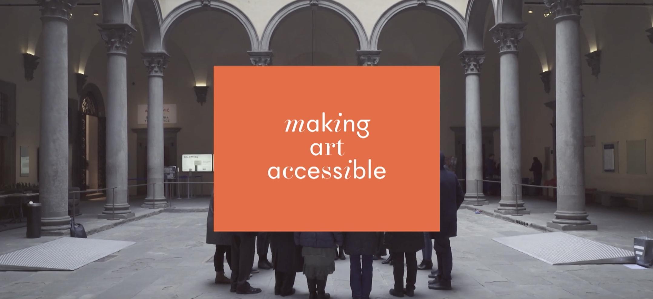 Arte Accessibile a Palazzo Strozzi